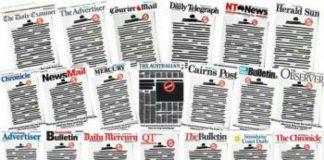 অস্ট্রেলিয়ায় গণমাধ্যম নিয়ন্ত্রণের বিরুদ্ধে অভিনব প্রতিবাদ