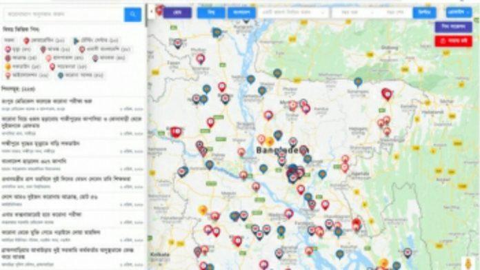করোনার যাবতীয় তথ্য নিয়ে দেশে তৈরি হলো ডিজিটাল ম্যাপ