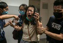 চীনের বিরুদ্ধে ব্যবস্থা নিতে হংকংয়ে নিষেধাজ্ঞা যুক্তরাষ্ট্রের