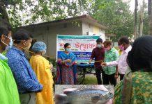 সৈয়দপুরে জামান অ্যাকুয়া ফিশ ফার্মে রাস উৎপাদিত অর্গানিক মাছ বাজারজাতকরণ শুরু