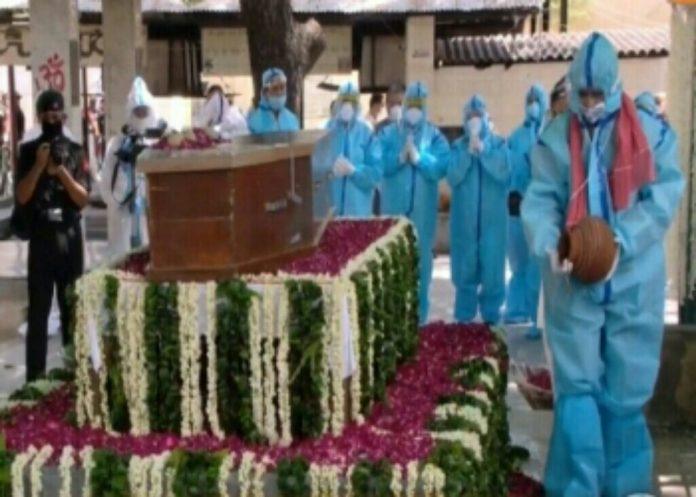 নয়া দিল্লিতে প্রণব মুখার্জির শেষকৃত্য সম্পন্ন